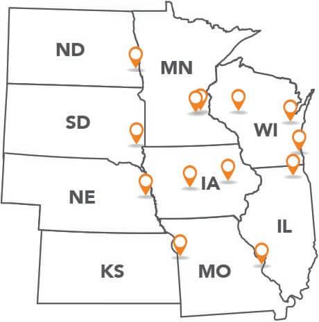 EXBuild Offices Map